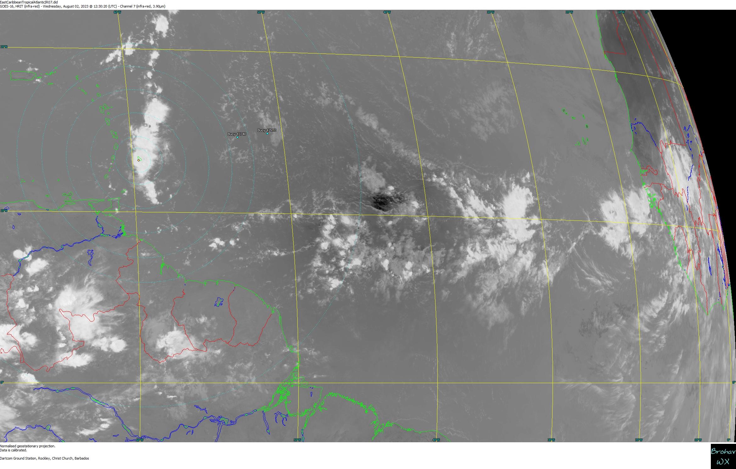 Caribbean Weather Map Forecast.Barbados Caribbean Weather Satellite Image Lightning Radar